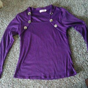 Tops - Purple long sleeve top